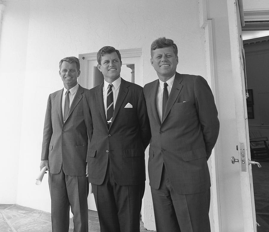 Jfk Photograph - The Kennedy Brothers by War Is Hell Store