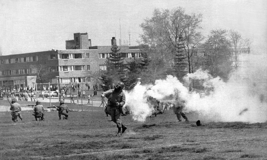 1970 Photograph - The Kent State Massacre by Underwood Archives
