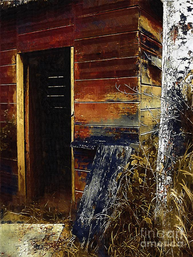 Shed Painting - The Killing Shed by RC DeWinter