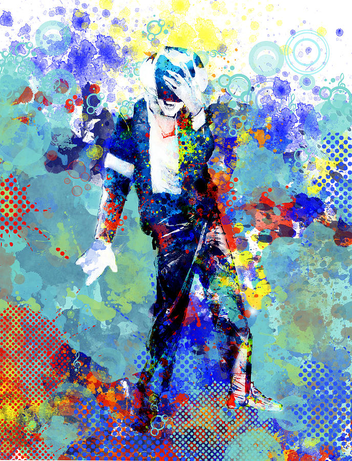 Michael Jackson Painting - The king by Bekim M