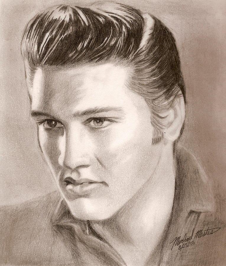Elvis Digital Art - The King Of Rock N Roll by Michael Mestas