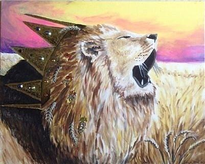 Lion Of Judah Painting - The Kings Harvest by Tehya May