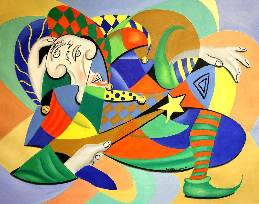 Anthony Falbo Painting - The Kings Jester by Anthony Falbo