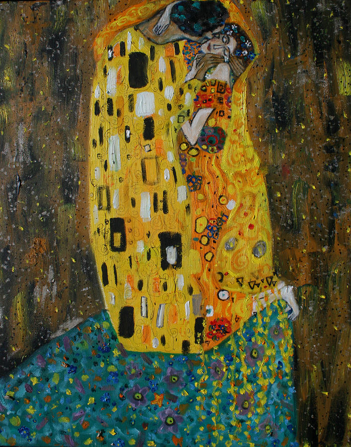 The Kiss Painting - The Kiss by Hannah Curran