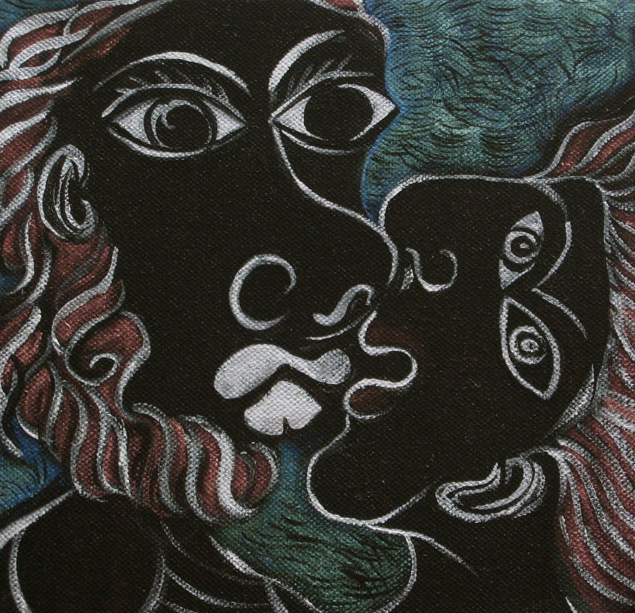 Original Painting - The Kiss by Sue Wright