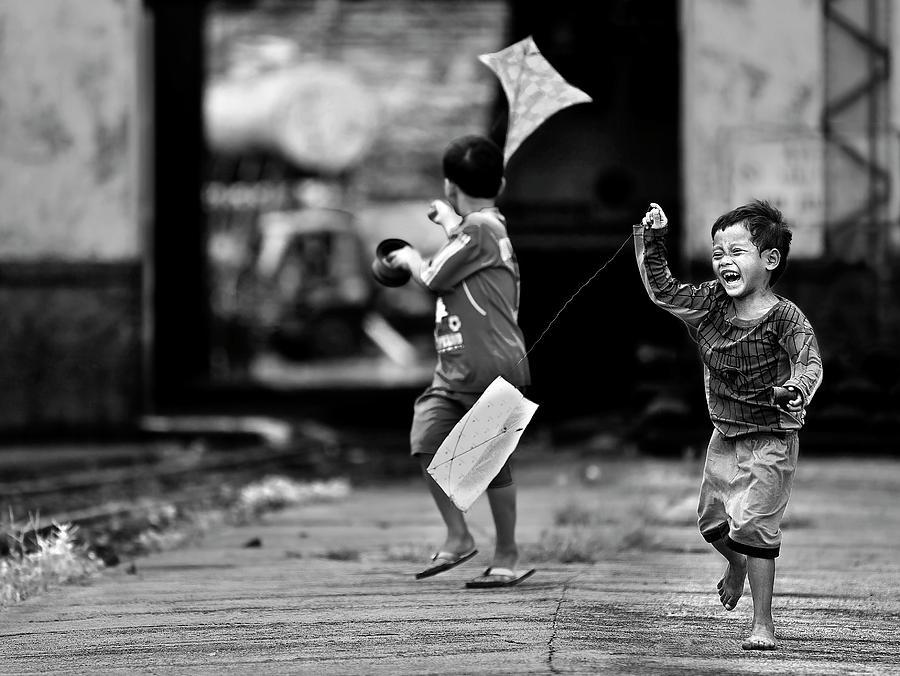 Railway Photograph - The Kite Runner by Sebastian Kisworo