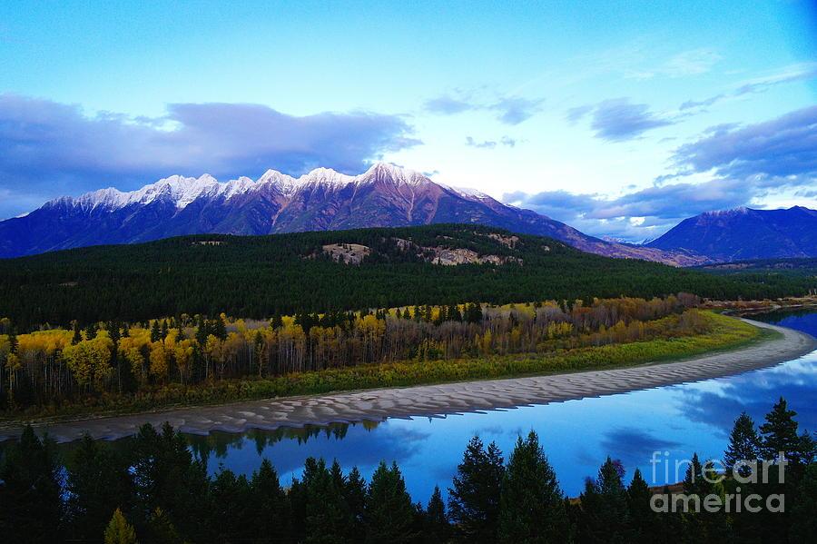 Mountains Photograph - The Kootenenai River Surrounding The Canadian Rockies   by Jeff Swan
