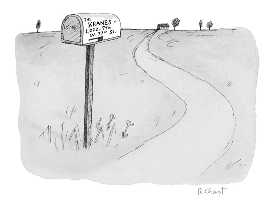 the Kranes 1 Drawing by Roz Chast