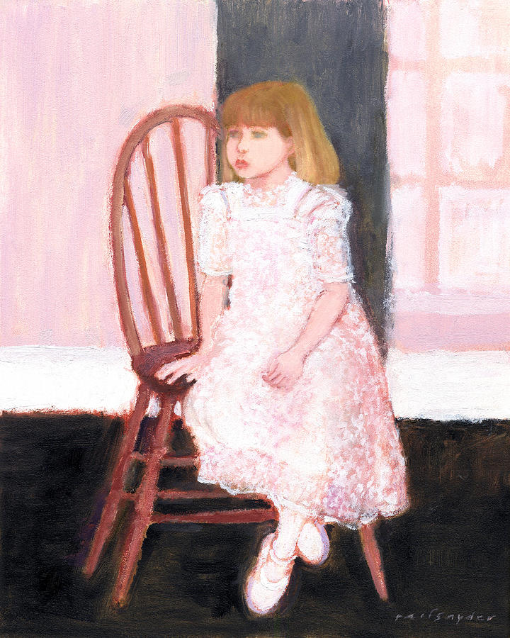 Child Painting - The Lace Dress by J Reifsnyder