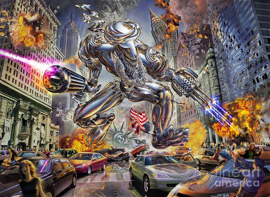 Adrian Chesterman Digital Art - The Ladenator by Adrian Chesterman