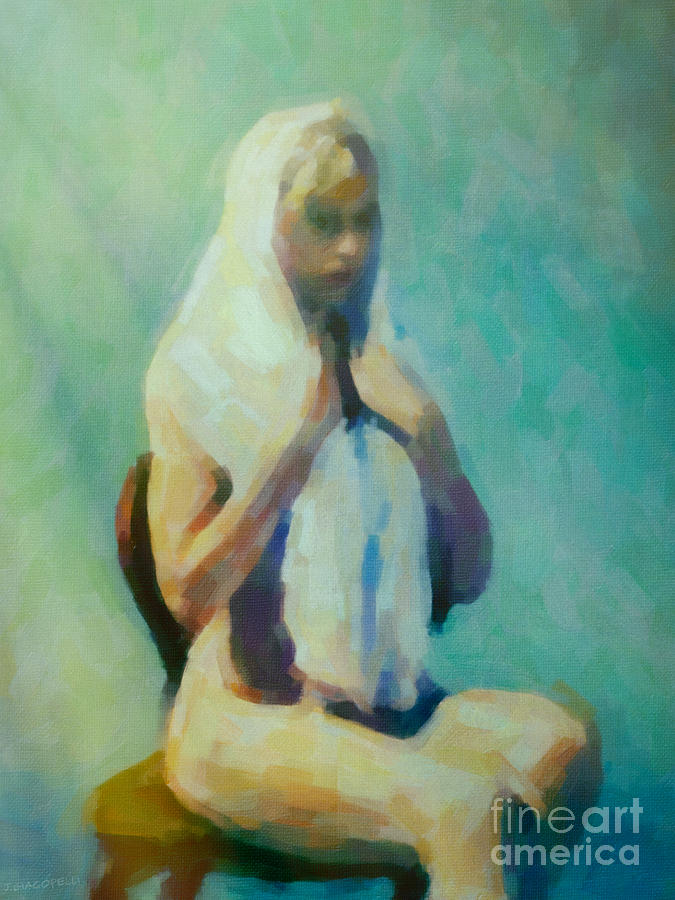 Nude Painting - The Lady In Waiting by Cinema Photography