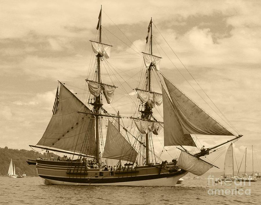 Transportation Photograph - The Lady Washington Ship by Kym Backland