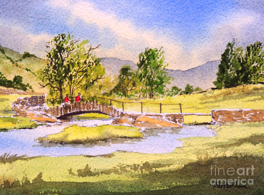 The Lake District Painting - The Lake District - Slater Bridge by Bill Holkham