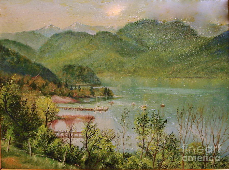 Summer Painting - The Lake by Sorin Apostolescu