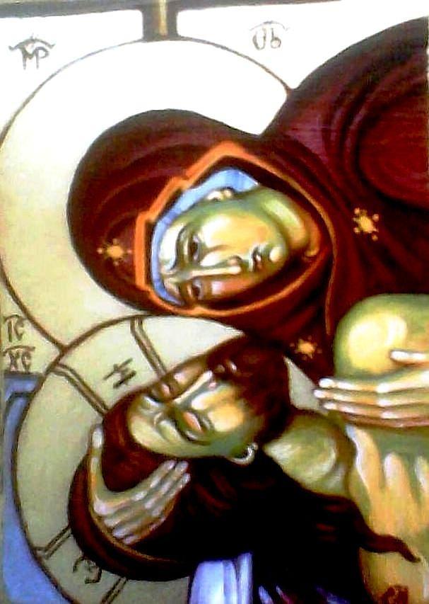 The Lamentation Painting - The Lamentation by Sonya Grigorova