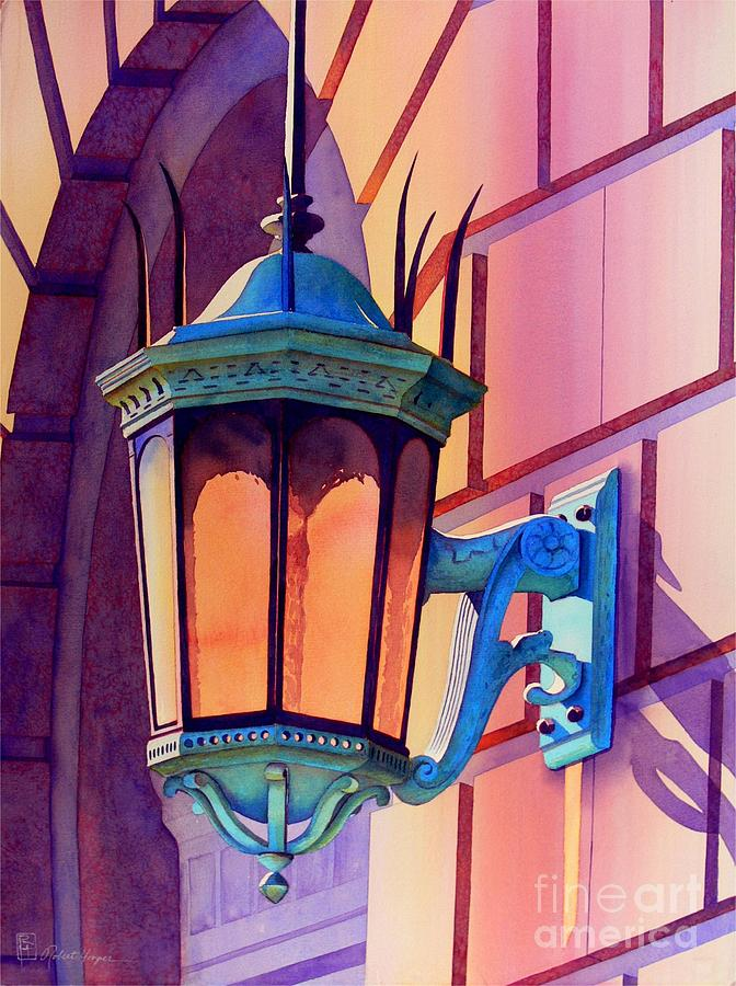 Watercolor Painting - The Lamp On Goodwin by Robert Hooper