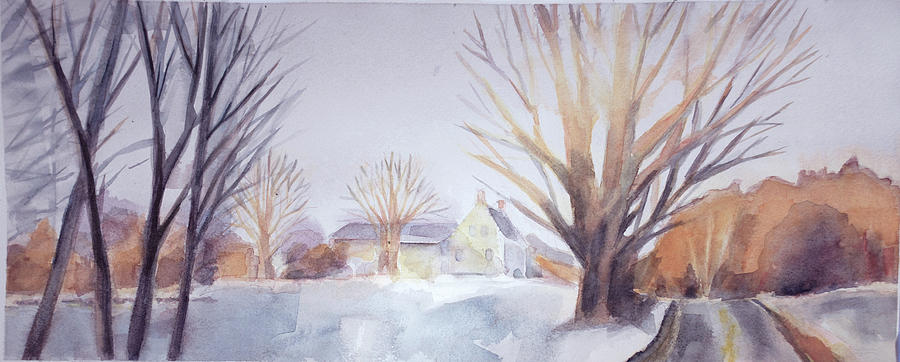 Winter Painting - The Landscape Listens by Grace Keown
