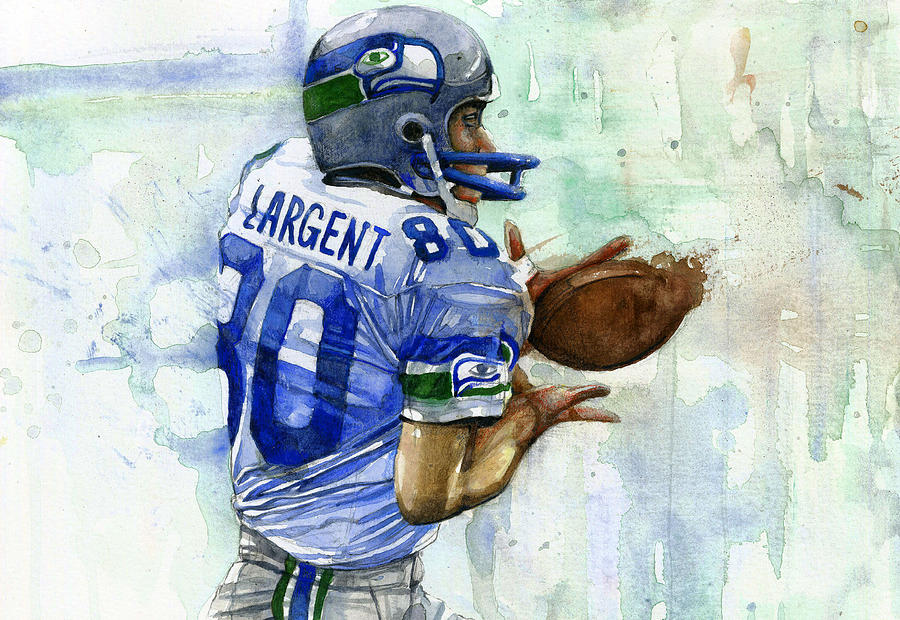 Steve Painting - The Largent by Michael  Pattison