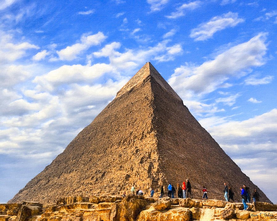 Egyptian Pyramids Photograph - The Last Ancient Wonder - Egyptian Pyramid by Mark E Tisdale