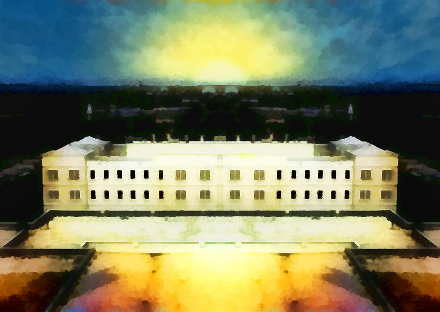 Architecture Digital Art - The Last Bastion by Wendy J St Christopher