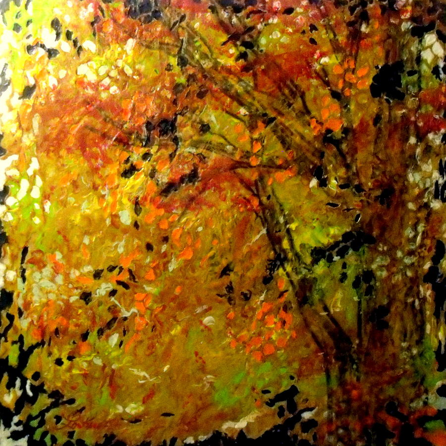 Encaustic Painting - The Last Days Of Autumn by Cheryl Lynn Looker