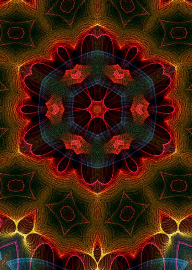 Flame Fractal Digital Art - The Last Flower II by Owlspook