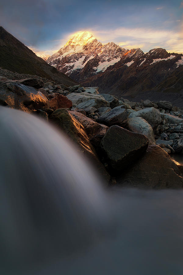 Mountains Photograph - The Last Light by Yan Zhang