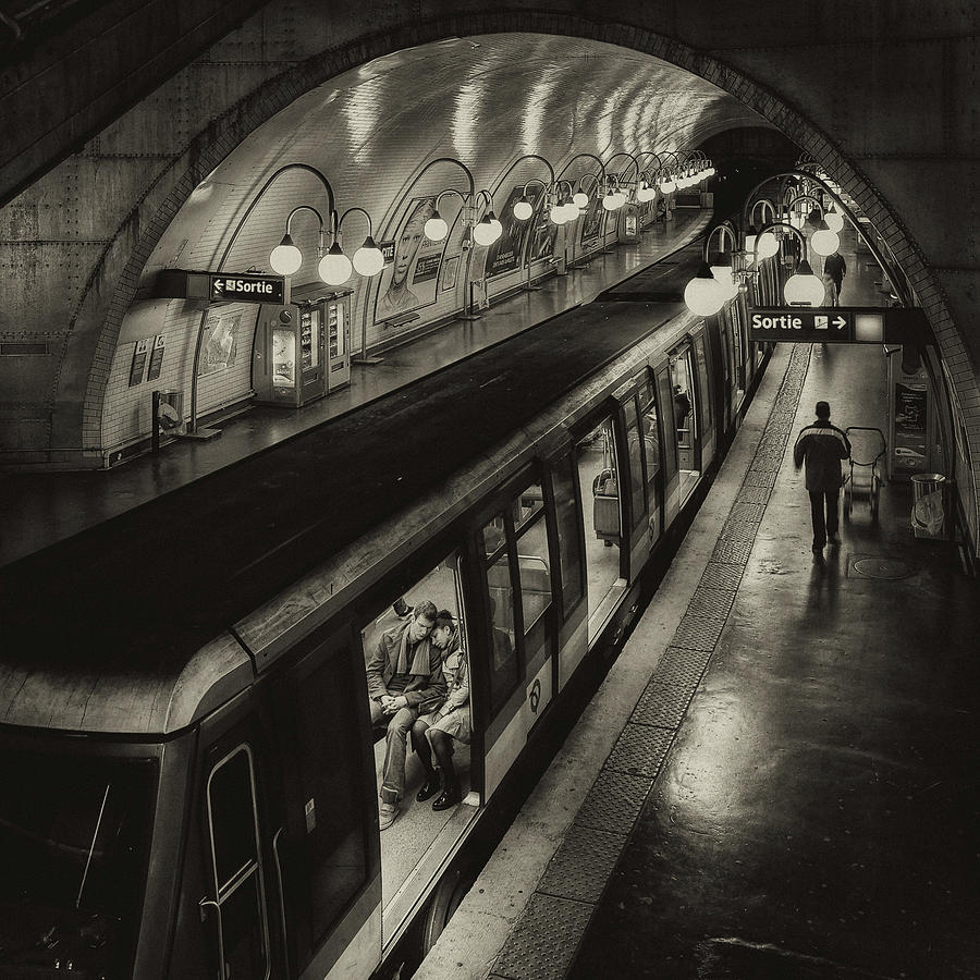 France Photograph - The Last Metro by Thomas Siegel