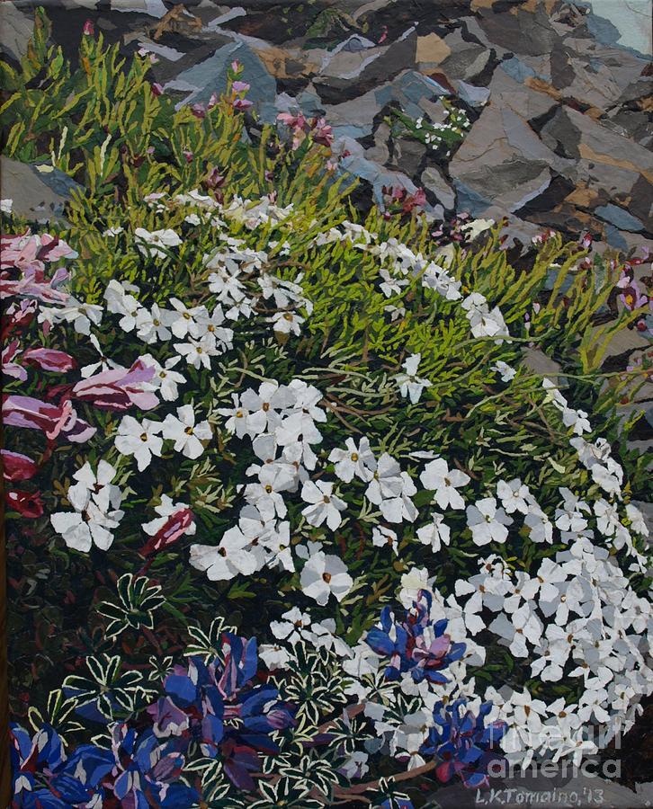 Landscape Mixed Media - The Last of Mt. Rainier by Leah  Tomaino