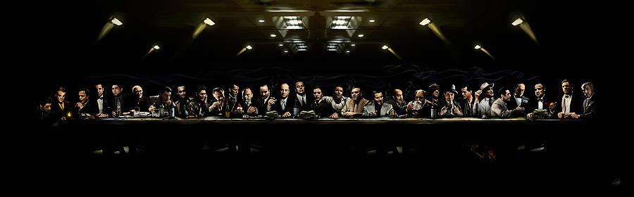 Mafia Digital Art - The Last Sit Down by Laurence Adamson