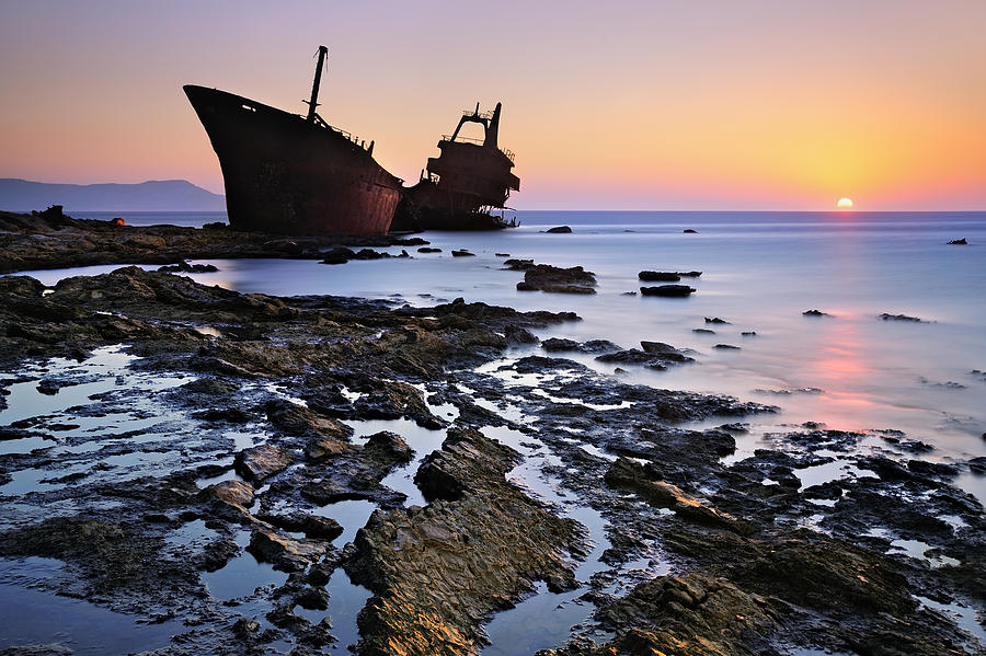 Shipwreck Photograph - The Last Stand by Mary Kay
