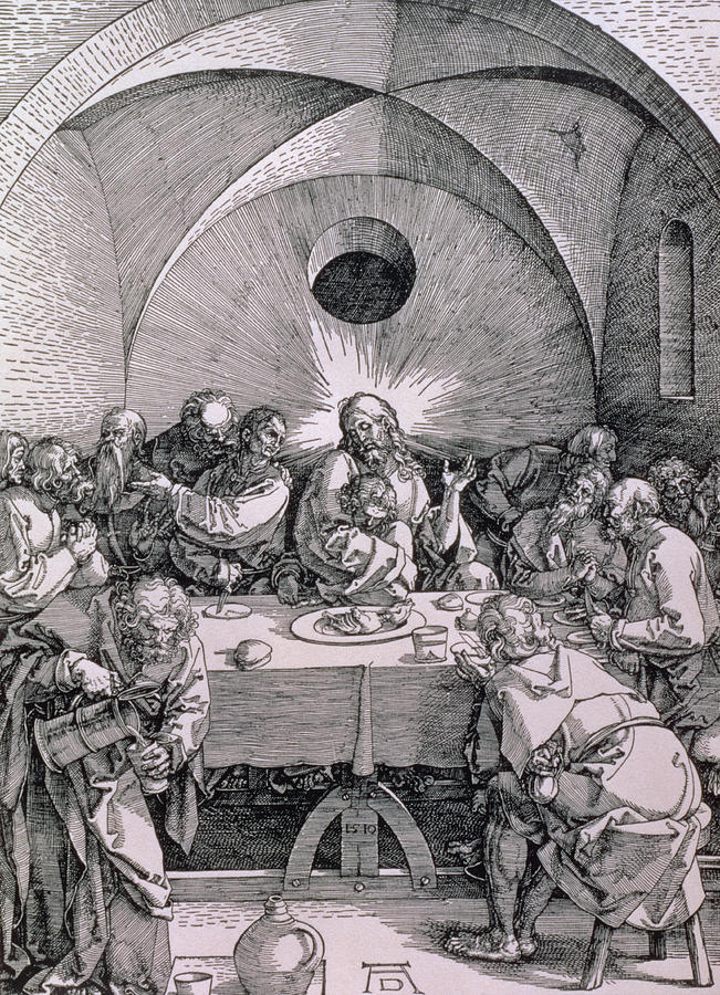 Print Painting - The Last Supper From The great Passion Series by Albrecht Duerer