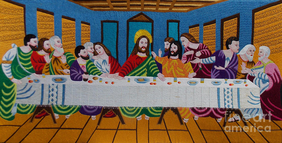 Autism Tapestry - Textile - The Last Supper Hand Embroidery by To-Tam Gerwe