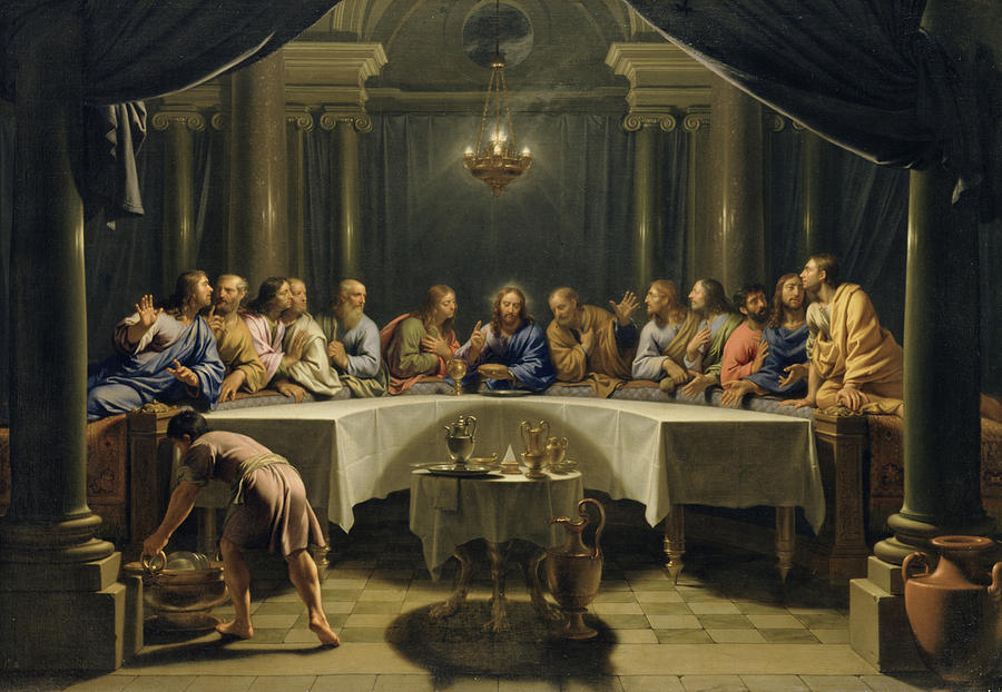The Last Supper Painting - The Last Supper by Jean Baptiste de Champaigne