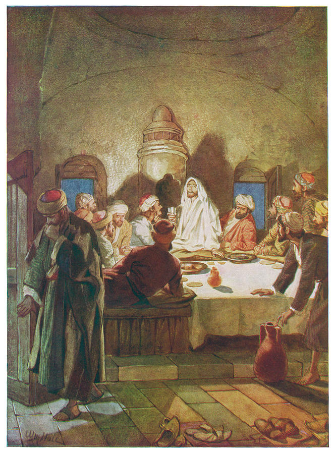 the last supper jesus dismisses judas drawing by mary evans picture