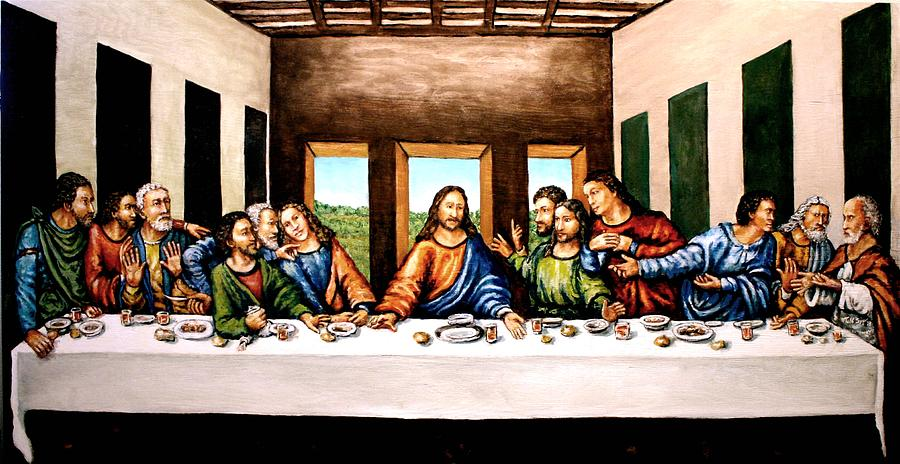 The Last Supper. Christ Painting - The Last Supper by Todd Spaur