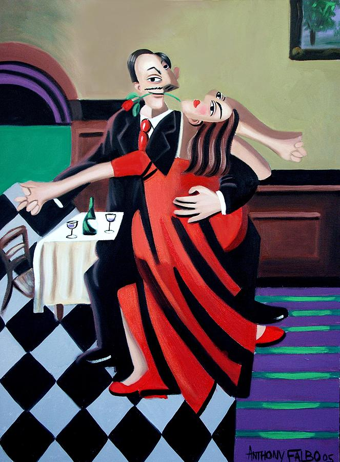Dancing Greeting Cards Painting - The Last Tango by Anthony Falbo