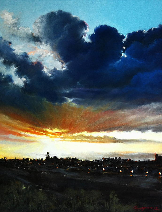 Clouds Pastel - The Last Touch by Roman Burgan