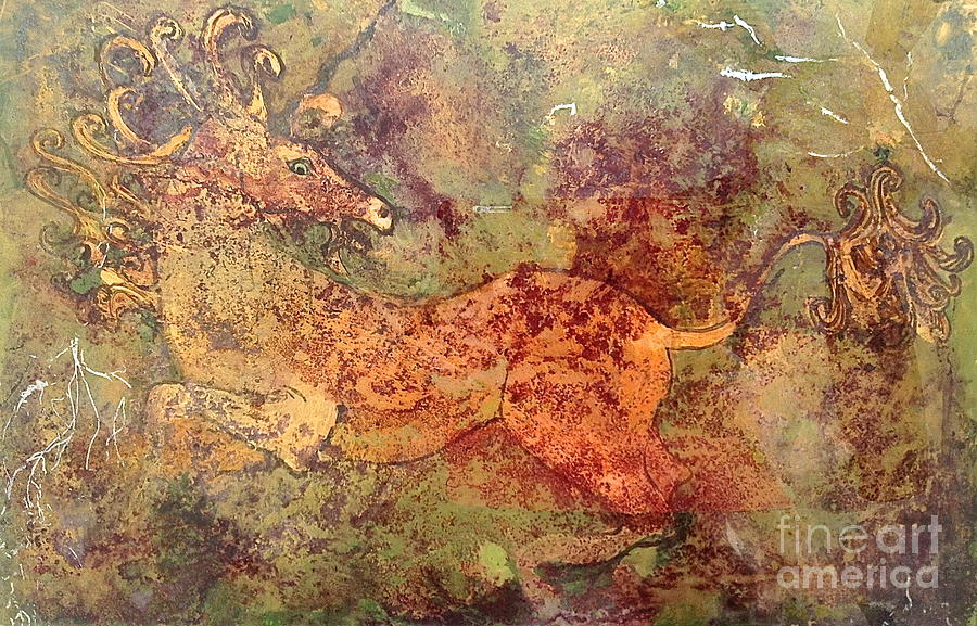 Unicorn Original Art Prints Mixed Media - The Last Unicorn by Delona Seserman