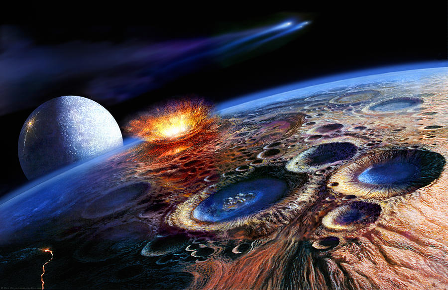 Geology Painting - The Late Heavy Bombardment by Don Dixon