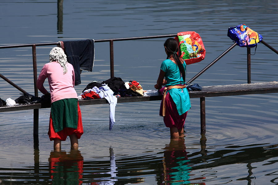 Nepal Photograph - The Laundry - Nepal by Aidan Moran