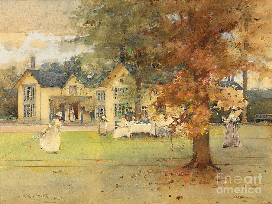 Sport Painting - The Lawn Tennis Party by Arthur Melville