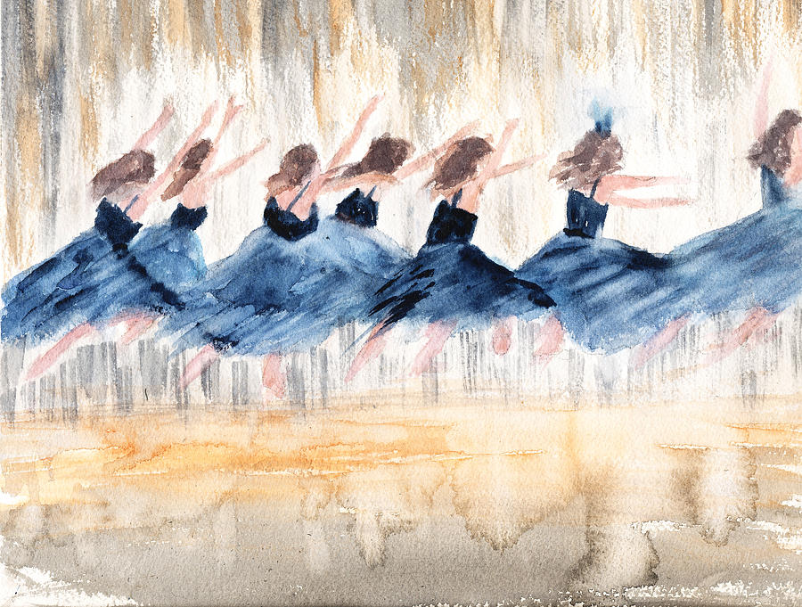 Dancers Painting - The Leap by Peggy Bosse