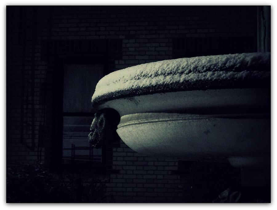 Snow Photograph - The Left Gargoyle by Jhoy E Meade