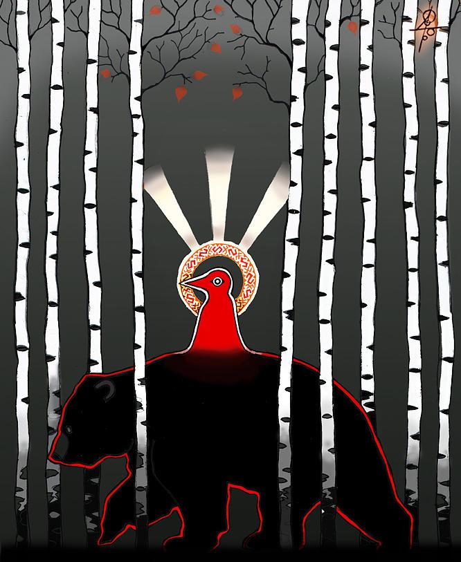 Slavic Mythology Digital Art - The Left Hand Path by Maxim Sukharev