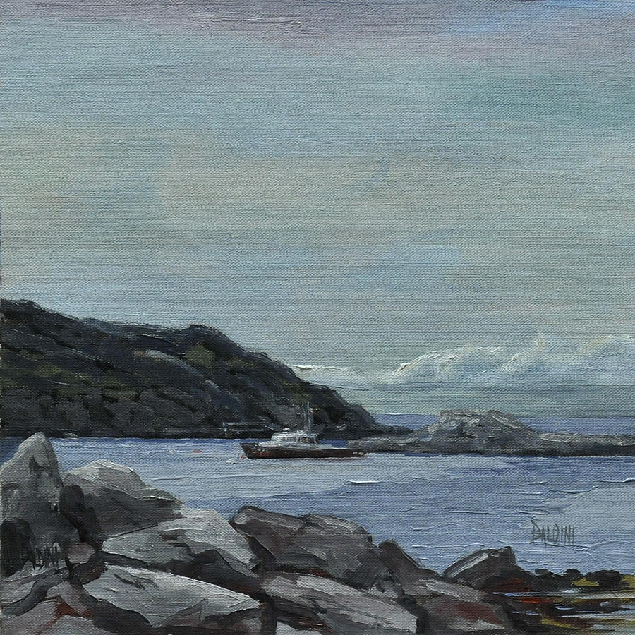 Lobster Boat Painting - The Legacy - Monhegan Maine by J R Baldini IPAP