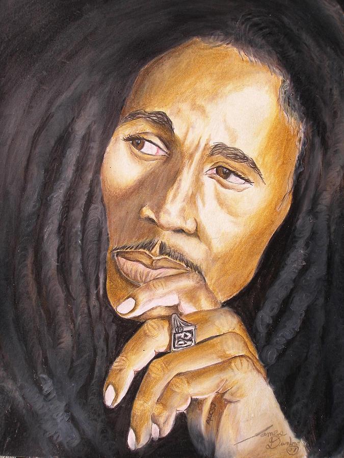 The Legend Bob Marley Drawing by Portland Art Creations