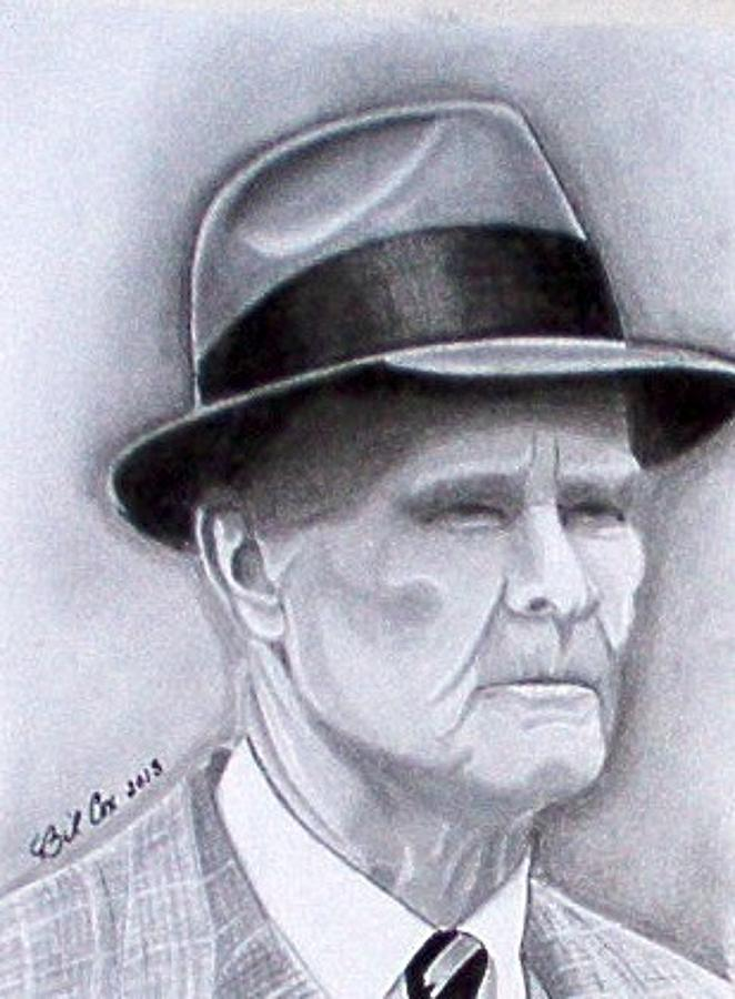 Nfl Drawing - The Legend Tom Landry by William Cox