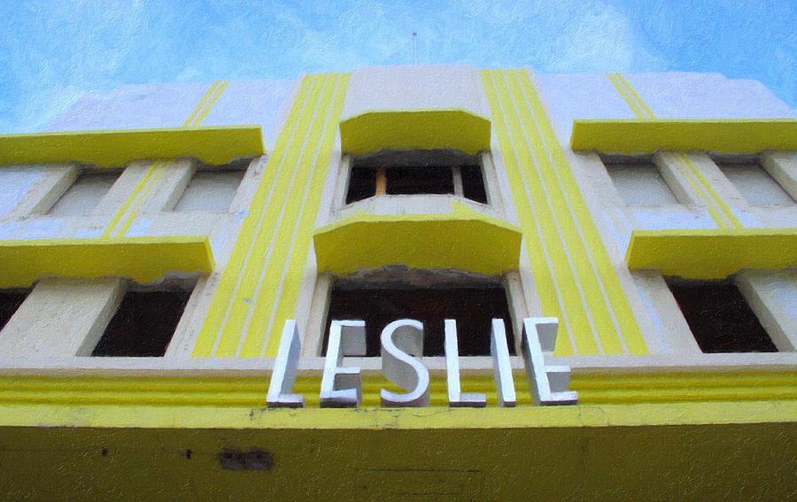 Art Deco Photograph - The Leslie Hotel by Tom Reynen