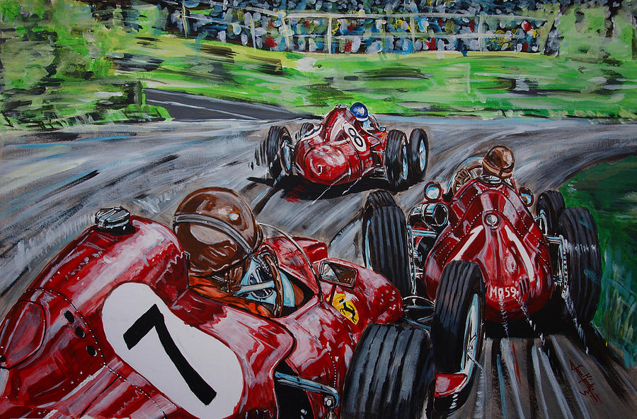 Juan Manuel Fangio Painting - The Lesson Of The Maestro by Juan Mendez